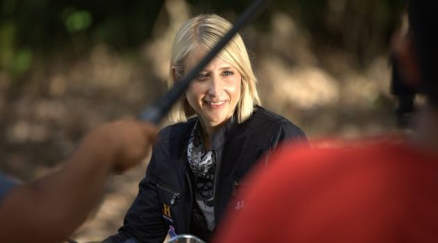 Jaime readies for her close-up in Ride N' Seek: Borneo