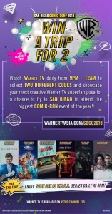 Watch & Win - Trip to San Diego Comic-Con 2018