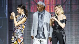 Gemma Chan, Brie Larson and Samuel L Jackson show their love for fans